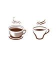 cup coffee symbol cafe drink food concept vector image vector image