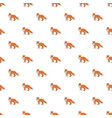 cute fox pattern seamless vector image vector image
