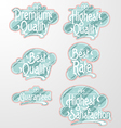 Decorative Text Label vector image vector image