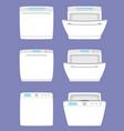 dishwashing machine simple icon isolated vector image