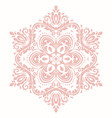 elegant ornament in classic style vector image vector image
