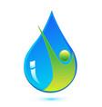 environmental water rain drop icon vector image