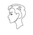 face silhouette line art concept design vector image vector image