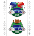 fantasy football american football emblems vector image vector image