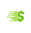 finance delivery logo icon design vector image vector image