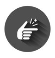 finger snap icon in flat style fingers expression vector image