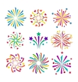 Fireworks icon isolated vector image vector image