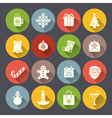 Flat christmas icons for web and applications vector image