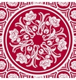 Floral seamless background with a mandala in the vector image vector image