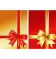 golden ribbon red ribbon two images vector image vector image
