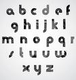 Grunge black striped lower case letters decorative vector image vector image