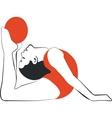 Gymnast in color 03 vector image vector image