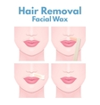hair removal wax vector image vector image