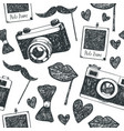 hand drawn doodle hipster seamless vector image vector image