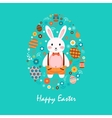 Happy easter 7 vector image vector image