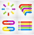 headline infographic set design business data vector image