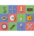 Icon set of Car repair parts car service Flat vector image vector image