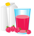 juice from raspberry vector image vector image