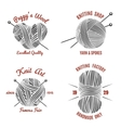 Knitting labels and knitwear logo vector image