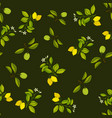 lemon and lime branches seamless pattern vector image