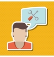 man and technical service icon design vector image vector image