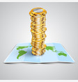 money on map vector image vector image