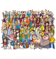 people in the crowd cartoon vector image vector image