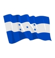 political waving flag of honduras vector image vector image