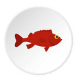 red betta fish icon circle vector image vector image