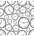 seamless repeating pattern of abstract clock vector image