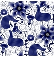 seamless vintage floral pattern Flowers on vector image vector image