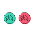 send mail download line icon sent messages vector image vector image