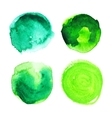 Set of green watercolour stains vector image vector image