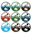 set of wildlife emblems vector image vector image
