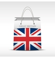 Shopping bag with British flag vector image vector image