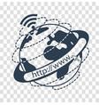 silhouette internet concept vector image