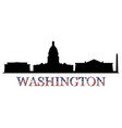 skyline washington vector image vector image