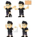 Spiky Rocker Boy Customizable Mascot 15 vector image vector image