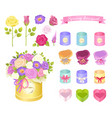 spring bouquet collection vector image vector image