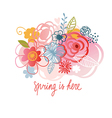 spring is here floral vector image vector image