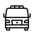 tow car truck icon outline vector image vector image