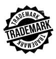 trademark rubber stamp vector image