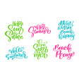 travel lifestyle motivational phrases set hand vector image