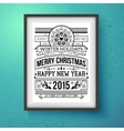 Vintage Christmas design Realistic frame on the vector image