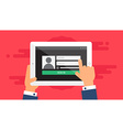 Web Template of Tablet Login Form vector image vector image