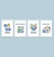 world teachers day celebration greeting cards vector image