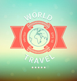 world travel vector image
