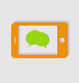 yellow phone on a white background vector image vector image