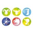 zodiac signs watercolor vector image vector image