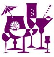 coctail glasses silhouette vector image